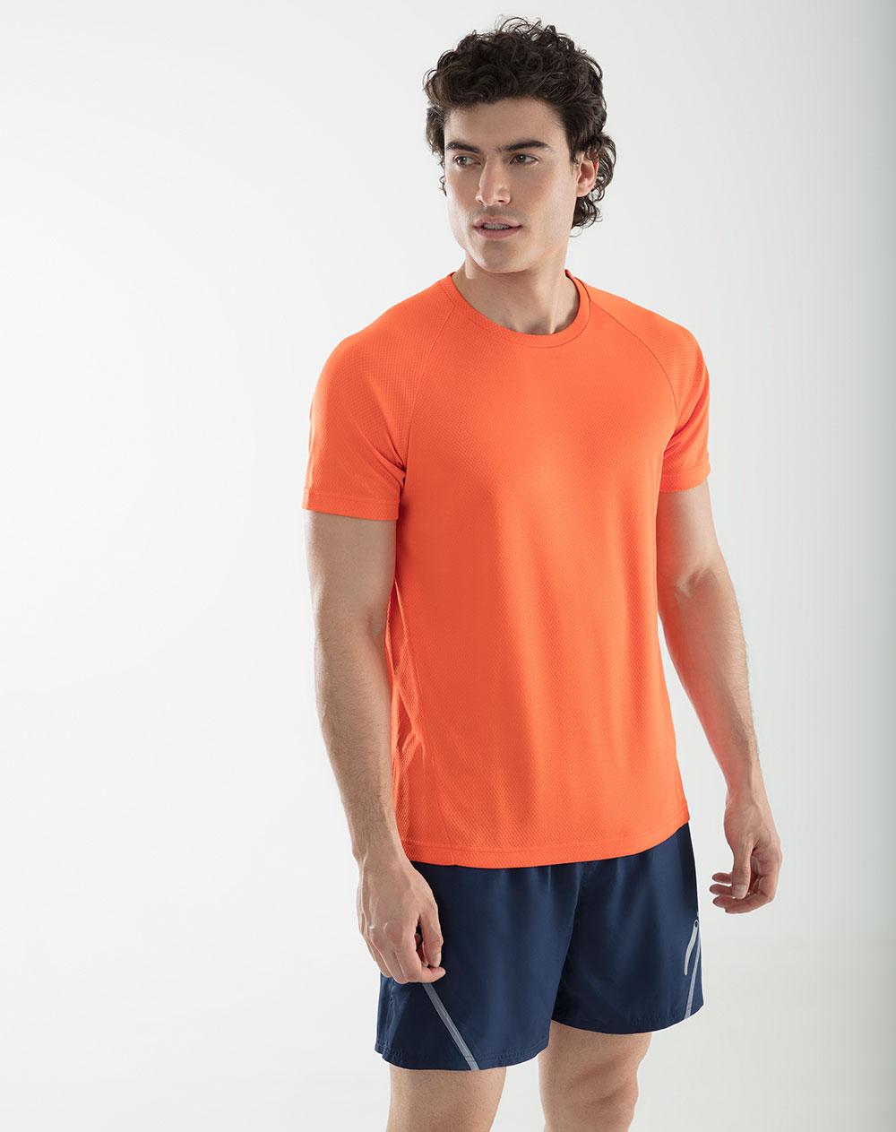 Blanco Cuello Camiseta Hombre Bruni Brillante Redondo De Punto Naranja kuwPZTOXi