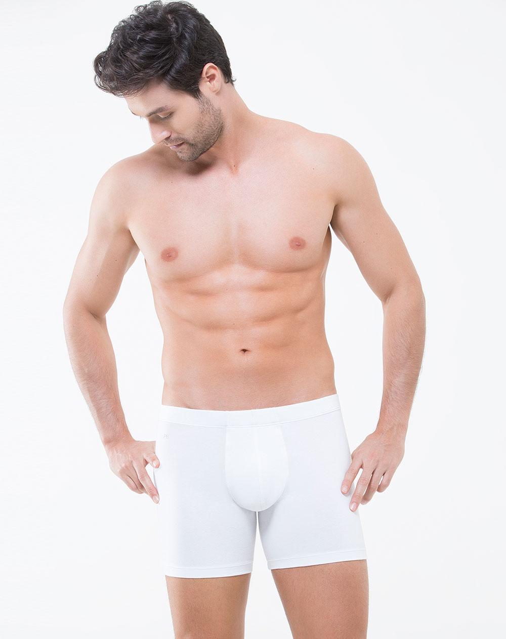 B xer de hombre orenburgo blanco en algod n punto blanco for Ropa interior punto blanco